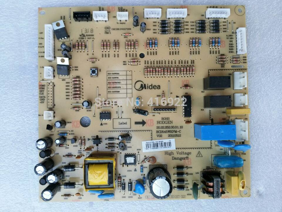 95% new Original good working refrigerator pc board motherboard for Midea bcd-550wkl on sale 100% tested for washing machines board xqsb50 0528 xqsb52 528 xqsb55 0528 0034000808d motherboard on sale