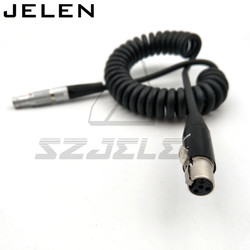 12V 2pin wtyczka do mini XLR wtyczka 4 pin  przewód zasilania monitora TVlogic  kamery ARRI monitorują kabel zasilający monitora 12V w Złącza od Lampy i oświetlenie na