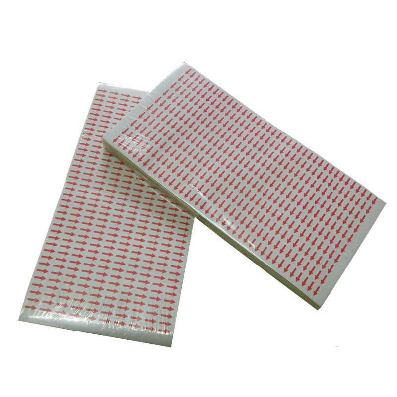 3800pcs Custom Defective Product Arrow Mark Stickers Indicates Error Fault Items Goods RED Color Labels Accessory Tool