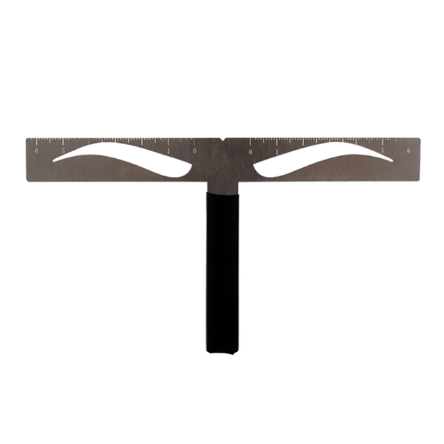 Eyebrow Ruler T-shaped Positioning Makeup Permanent Stencils Grooming Stencil Shaper Balance Ruler Symmetrical Tool