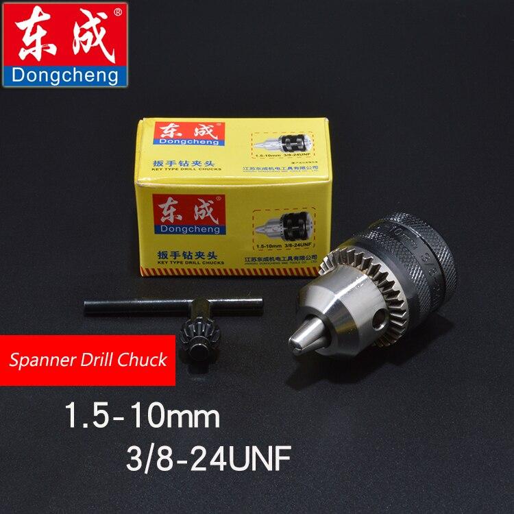 Spanner Drill Chuck 10mm Iron Chuck For Electric Drill, Max. Capacity 1.5-10mm, Bore Diameter 3/8, 24UNF Thread