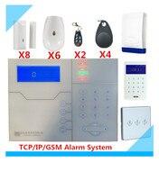 Большая скидка Беспроводная GSM сигнализация TCP/IP охранная система домашняя интеллектуальная система сигнализации с электроприводом