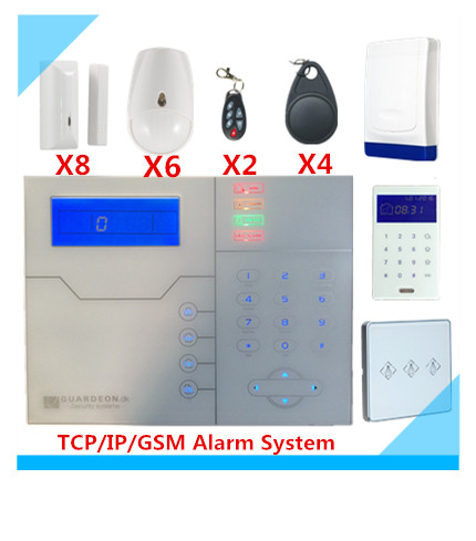 RFID function Wireless TCP/IP GSM Alarm System Security Protection Home Smart Alarm system With Power Electrical Switch цена
