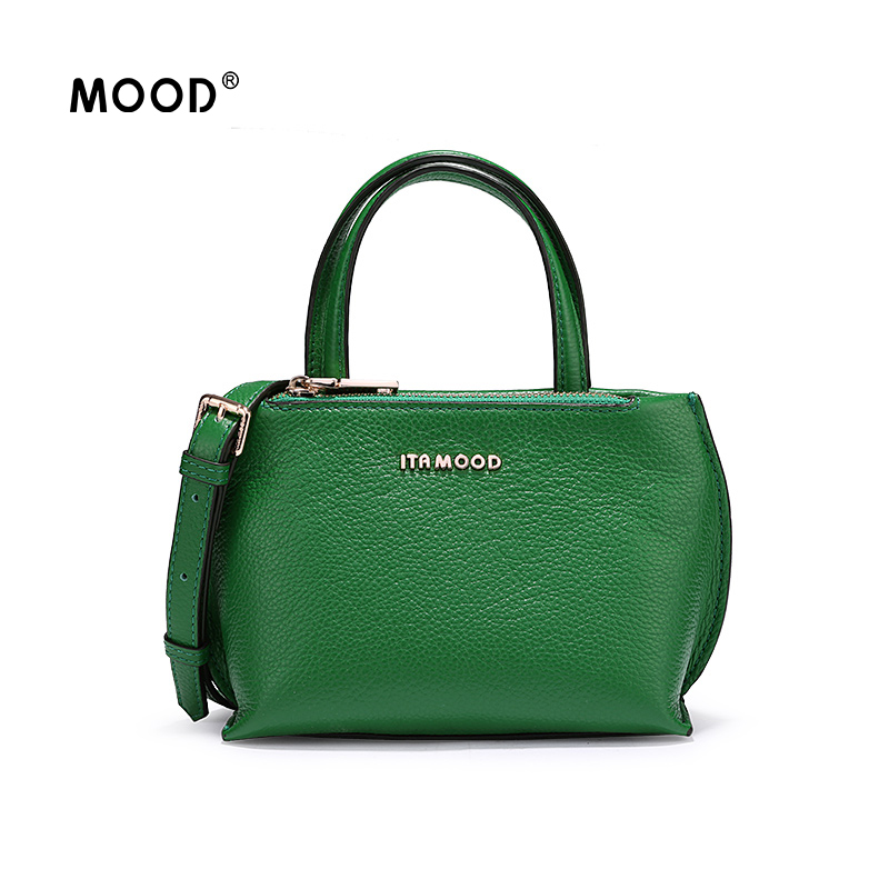 MOOD Genuine leather mini bag is Fashionable joker portable exquisite compact and Soft leather Quality assurance Free shipping цена и фото