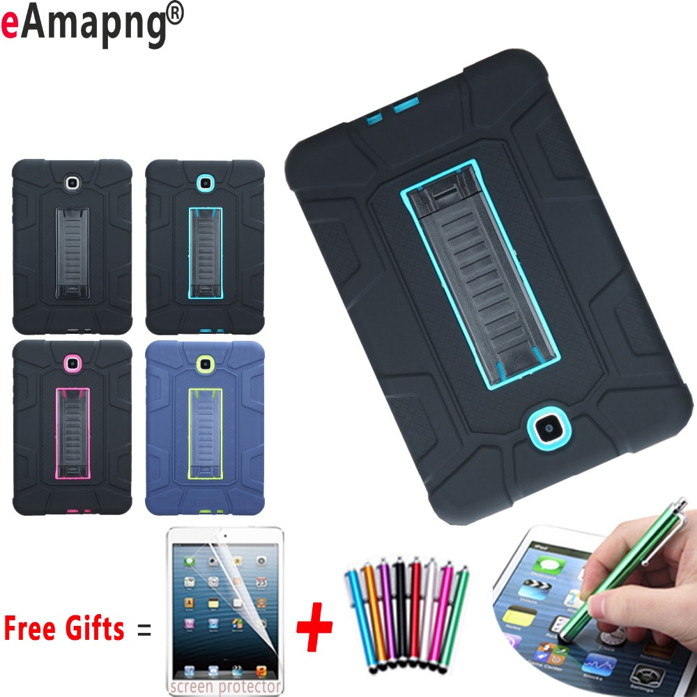 Case for Samsung Galaxy Tab A 8.0 inch Shockproof Kickstand Kids Safe Cover for Samsung Galaxy Tab A 8.0 T350 T355 metal ring holder combo phone bag luxury shockproof case for samsung galaxy note 8