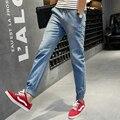 Плюс Размер Хип-Хоп Брюки Летние Модные мужские Джинсы Синий Тонкий джинсовые Синие Брюки Для Мужчин Повседневная Новые Марка Trend Джинсы M ~ 5XL