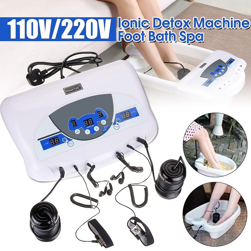 110V/220V Dual User Detox Ionic Foot Bath Ion Spa Machine Cell Cleanse MP3 Arrays hot dual detox foot spa machine ionic foot detox bath spa dual ion cleanse high quality high gurantee 8pcs lot wholesale