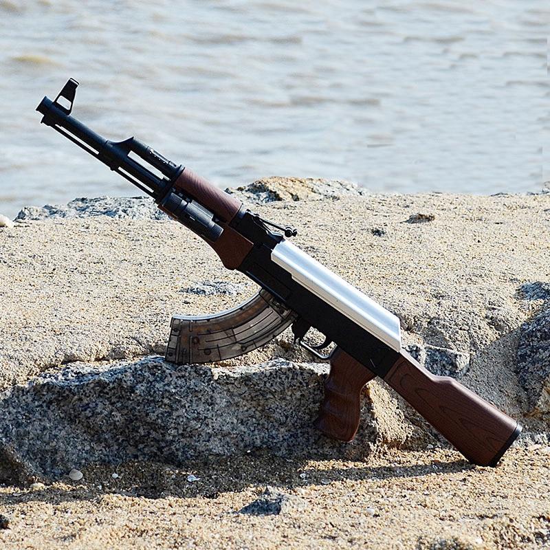 AK47 ráfagas eléctricas de juguete pistola de agua pistola de bala niños Manual Rifle pistola al aire libre vivo CS juego de armas disparar Juguetes 1 botella Y 20000 Uds bala de agua para pistola de juguete de cuentas puede contener 200 Uds bala usada para todos Barret M4A1 P90 AK47