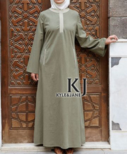 Muslim dress abaya 100% sandwash cotton