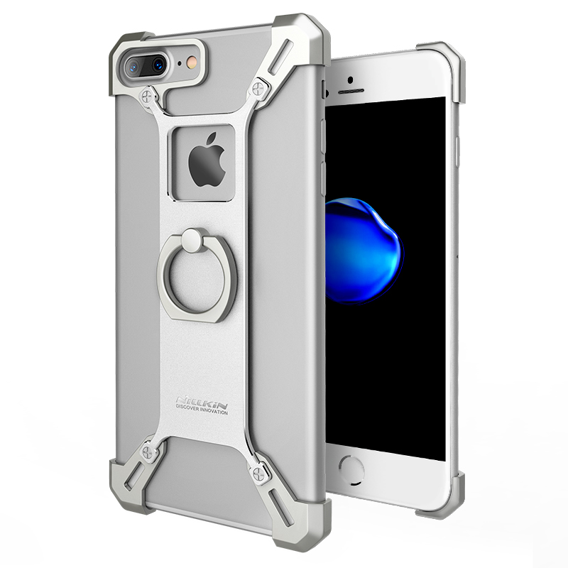 the best attitude f49fc 0ceb1 US $10.99  Case for iPhone 7 plus smartphone NILLKIN Barde metal case with  ring back cover case for iPhone 7 plus with kickstand function on ...