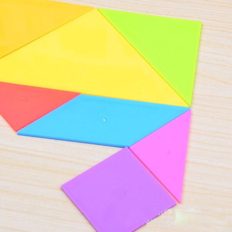 AUTOPS 1 компл. детские цветные умственное развитие Tangram Пластик головоломки обучения Развивающие игрушки для детей Бесплатная доставка