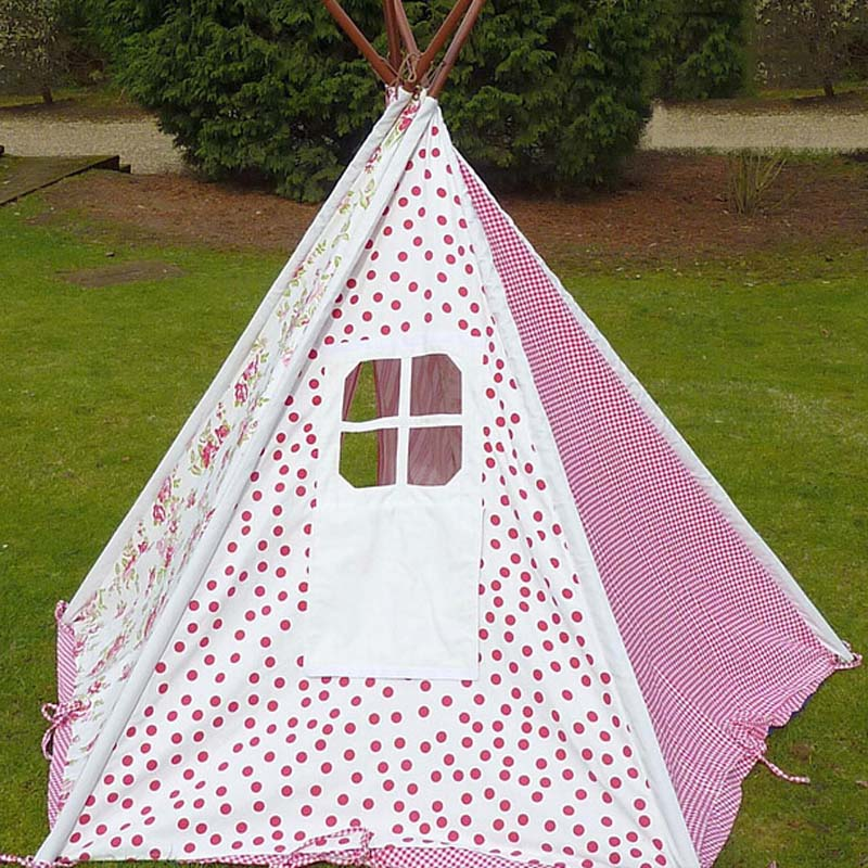 100% teepee Cotton kid tent fabric houses to play kids play tent child tent indoor tents for kids-in Toy Tents from Toys u0026 Hobbies on Aliexpress.com ... & 100% teepee Cotton kid tent fabric houses to play kids play tent ...