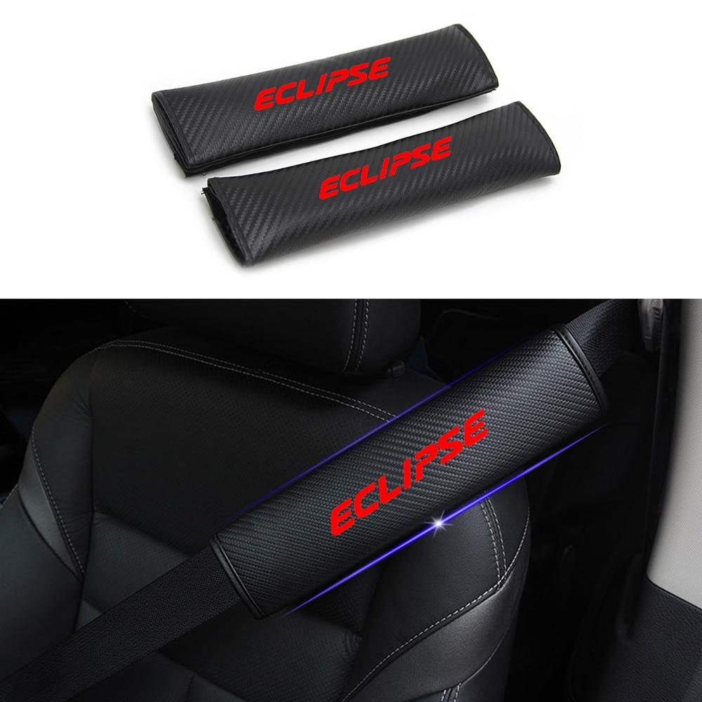 for Mitsubishi Eclipse Cross Car Seat Belt Shoulder Strap Protect Pads Cover No Slip No Rubbing Soft Comfort 2Pcs Blue