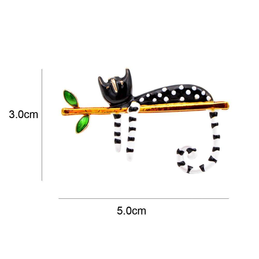 CINDY XIANG Pigro Gatto Spilla Smalto Spille Cartone Animale Gattino Spille Per Le Donne I Bambini Spille 2 Colori Scegliere Monili di Estate buon Regalo