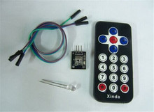 5pcsHot Sale Black Infrared IR Wireless Remote Control Module Kits for arduino DIY Starter Kit