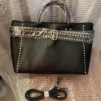 Brand Handbag 100% Genuine Leather Bag Female High Quality Fashion Rivet Design Crossbody Shoulder Bags For Women Top-Handle Bag - DISCOUNT ITEM  50% OFF All Category
