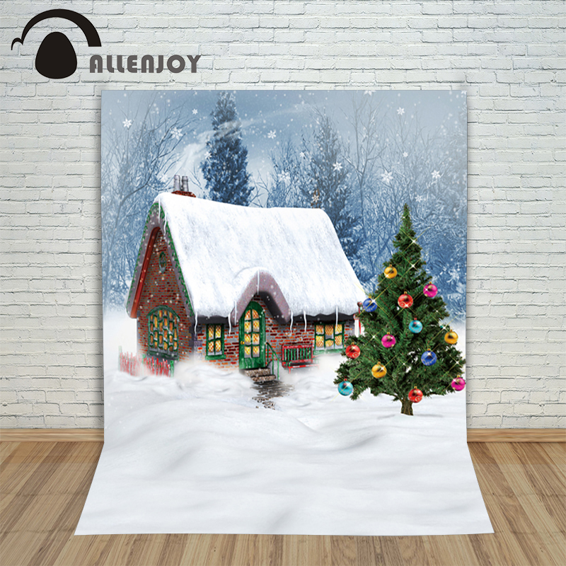 Backgrounds for photo studio christmas House tree snowflake ball winter kids Fairy tale wonderland 10x10ft photography backdrop winter s tale