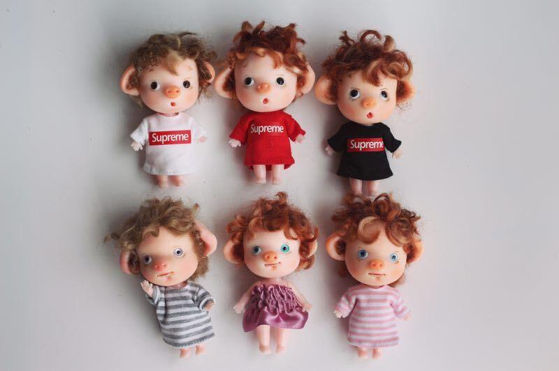 Réservations, BJD mini cochon, taille 7 cm, série de jouets cadeaux faits à la main 510