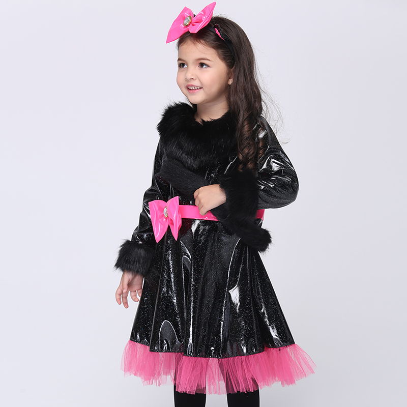 European and American Children Girl Halloween Costumes Cat Girl Cosplay Dress Baby Girls Cosplay Dress Kids Carnival Clothes 100% real photo brand kids red heart sleeve dress american and european style hollow girls clothes baby girl clothes