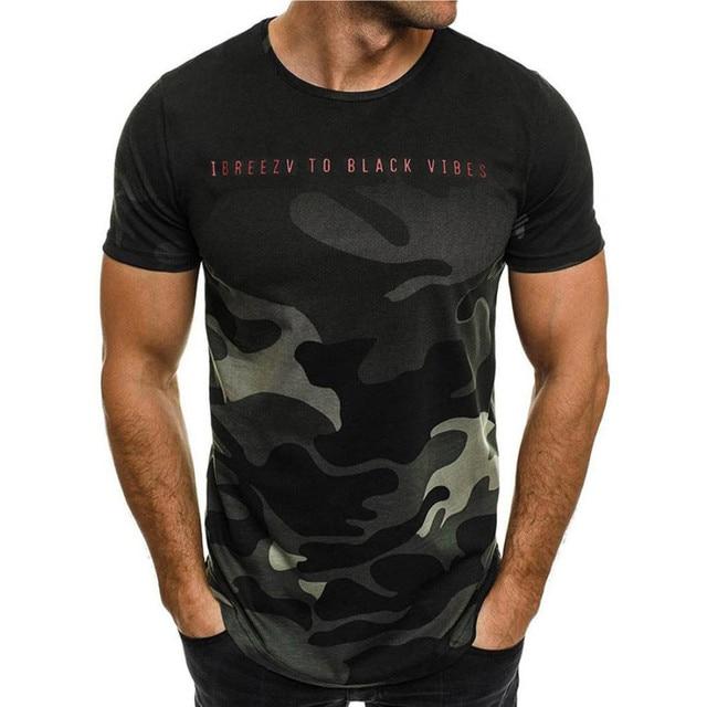 Модная мужская Тонкая футболка с коротким рукавом, индивидуальная камуфляжная Мужская Повседневная футболка harajuku, мужская одежда camiseta masculina