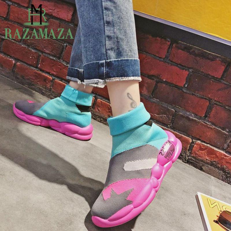 RAZAMAZA Women Wedges Boots 2019 Casual Women Shoes Lazy Shoes For Women Comfort Thick Bottom Spring Ladies Footwear Size 36-40RAZAMAZA Women Wedges Boots 2019 Casual Women Shoes Lazy Shoes For Women Comfort Thick Bottom Spring Ladies Footwear Size 36-40