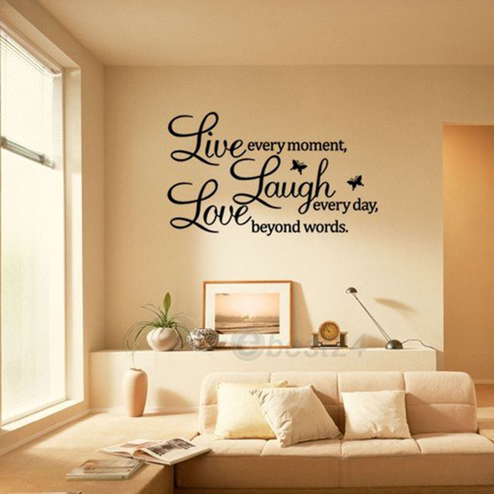 online get cheap fashion love quotes aliexpress com alibaba group fashion live laugh love quote art vinyl wall sticker wall decals wall art decorations decal mural