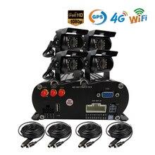 Free Shipping 4 Channel WIFI GPS 4G 1080P AHD 2TB HDD SD Car DVR MDVR Video