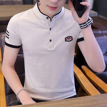b11b1f553fa Liseaven hombres Polo camisa de manga corta a rayas Polos camisa masculina  Tops y camisetas marca ropa hombres Camisas