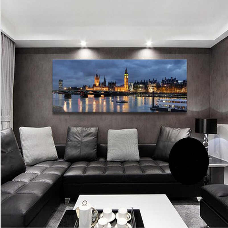 Panoramic Photography New York London City Landscape Picture Canvas Print Painting For Home Decoration (Unframed)RA0025