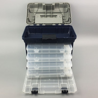 Portable 5 Layer Big Fishing Lure Bait Hooks Container Tackle Tool Storage Box With Handle Plastic