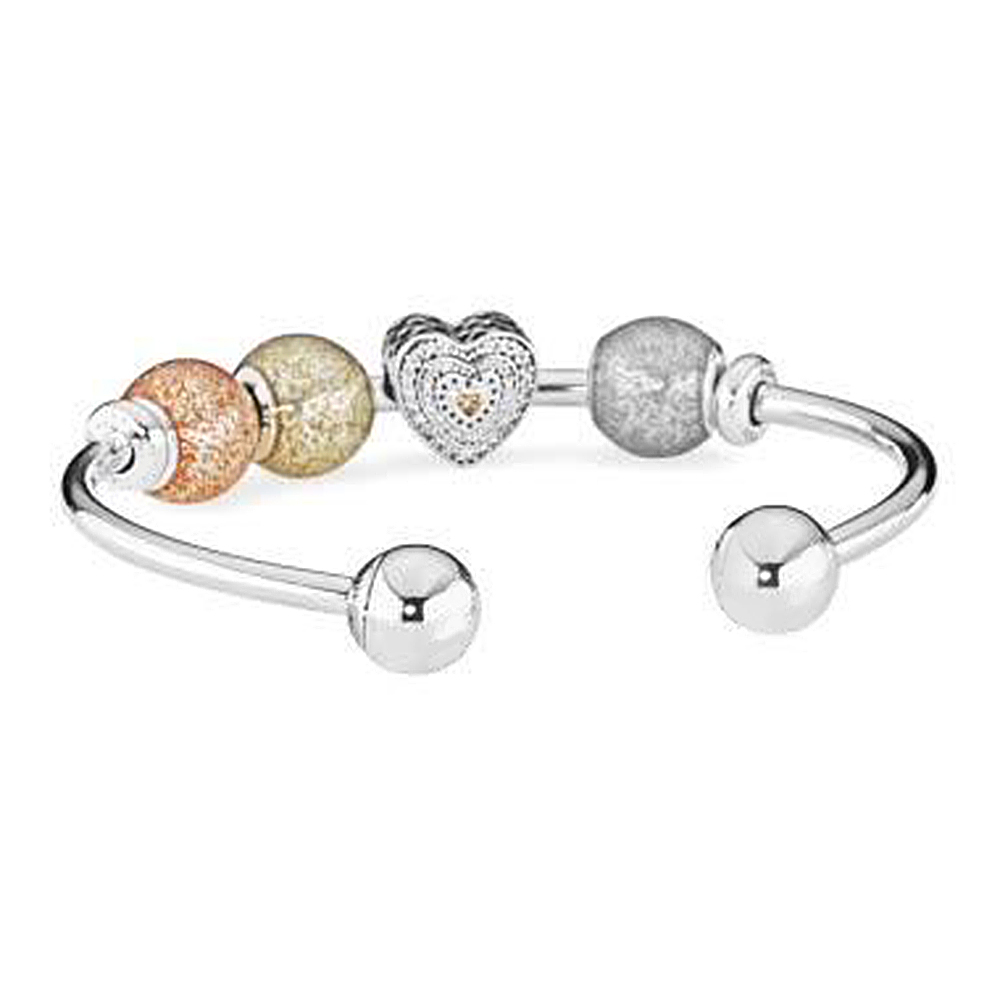 NEW 925 Sterling Silver Double-headed classic crystal bracelet Clear CZ Charm Bead fit DIY Bracelets Set factory wholesaleNEW 925 Sterling Silver Double-headed classic crystal bracelet Clear CZ Charm Bead fit DIY Bracelets Set factory wholesale