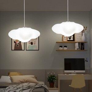 Image 4 - Creative cloud led lampadario camera bambini dellasilo nube di luce ristorante bar decorazione rigida in plastica della lampada di trasporto libero
