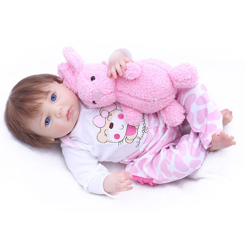 Bebes reborn real baby girl dolls 43cm soft silicone reborn baby dolls toys for child birthday gift cotton body rooted hair  Bebes reborn real baby girl dolls 43cm soft silicone reborn baby dolls toys for child birthday gift cotton body rooted hair