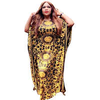 African Dresses for Women African Robe Bazin Riche Print Evening Long Dresses Women African Clothing Loose Dresses