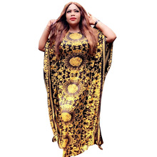 African Dresses for Women Robe Bazin Riche Print Evening Long Clothing Loose