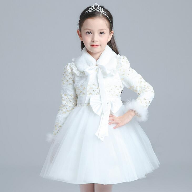 2017 New Winter Girl Dress Children Red Hoodie Princess Dresses Kids Christmas Party Costume for Girls