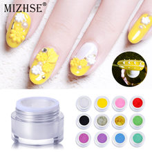MIZHSE 1pc 3D Relevo Escultura Pintura Cola Gel Unha Polonês LED UV Gel Em Relevo Langdurige 3D Sculptuur Gel UV nail Art(China)
