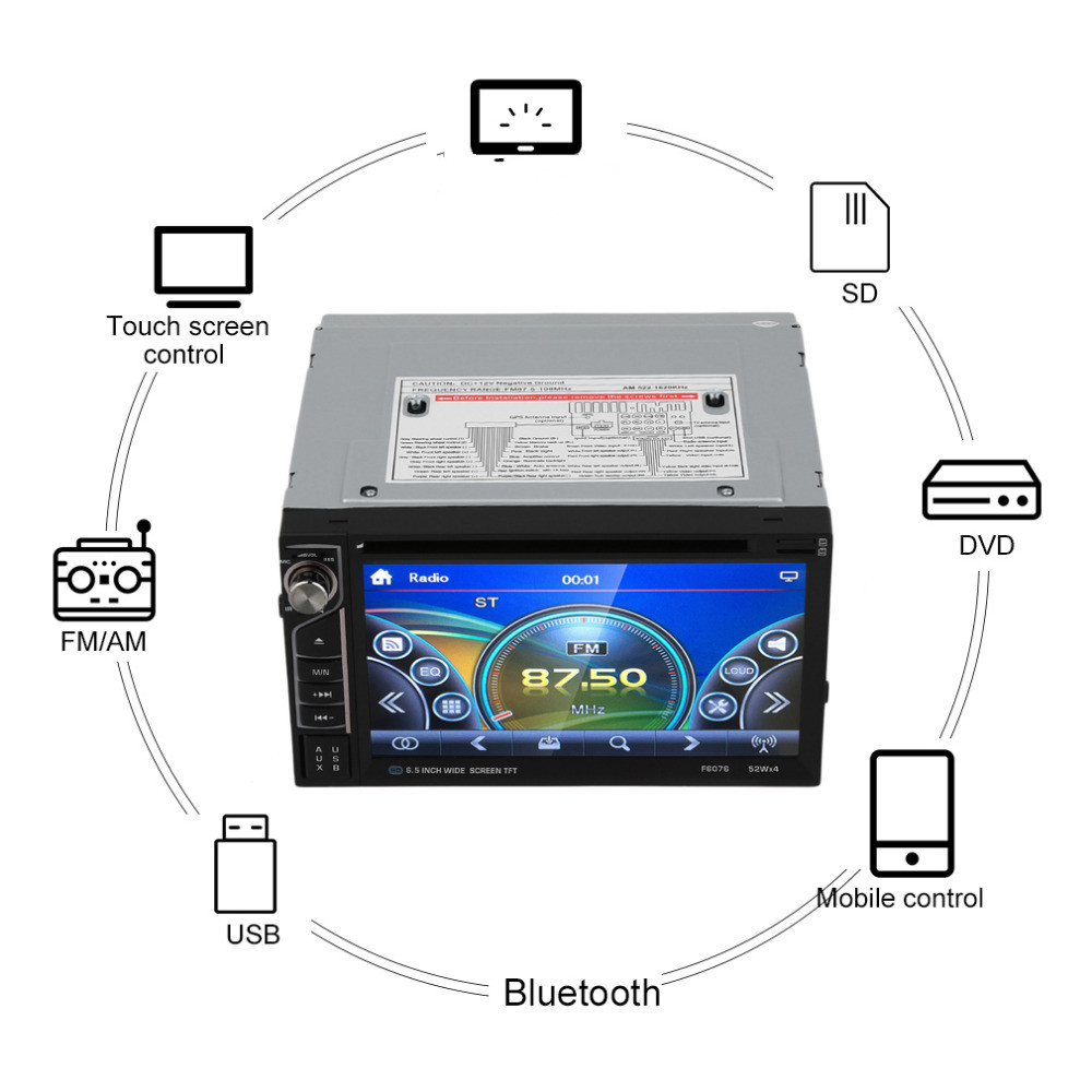 2017 Car Multimedia Player With Radio Receiver Bluetooth TV Tuner  USB Mode Touch Screen Control new compact usb worldwide internet tv radio games mtv movie player dongle black