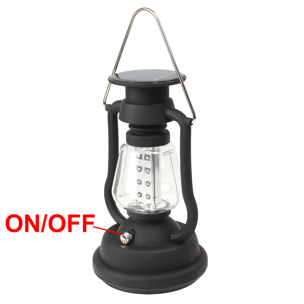 Solar Panel LED Camping Light Hand Crank Dynamo Waterproof Hanging Tent  Lamp Portable Lantern for Outdoor Hiking Emergency Lamp