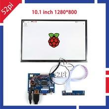 10.1″ inch 1280*800 LCD Display HDMI+VGA+2AV Driver Board for Raspberry Pi