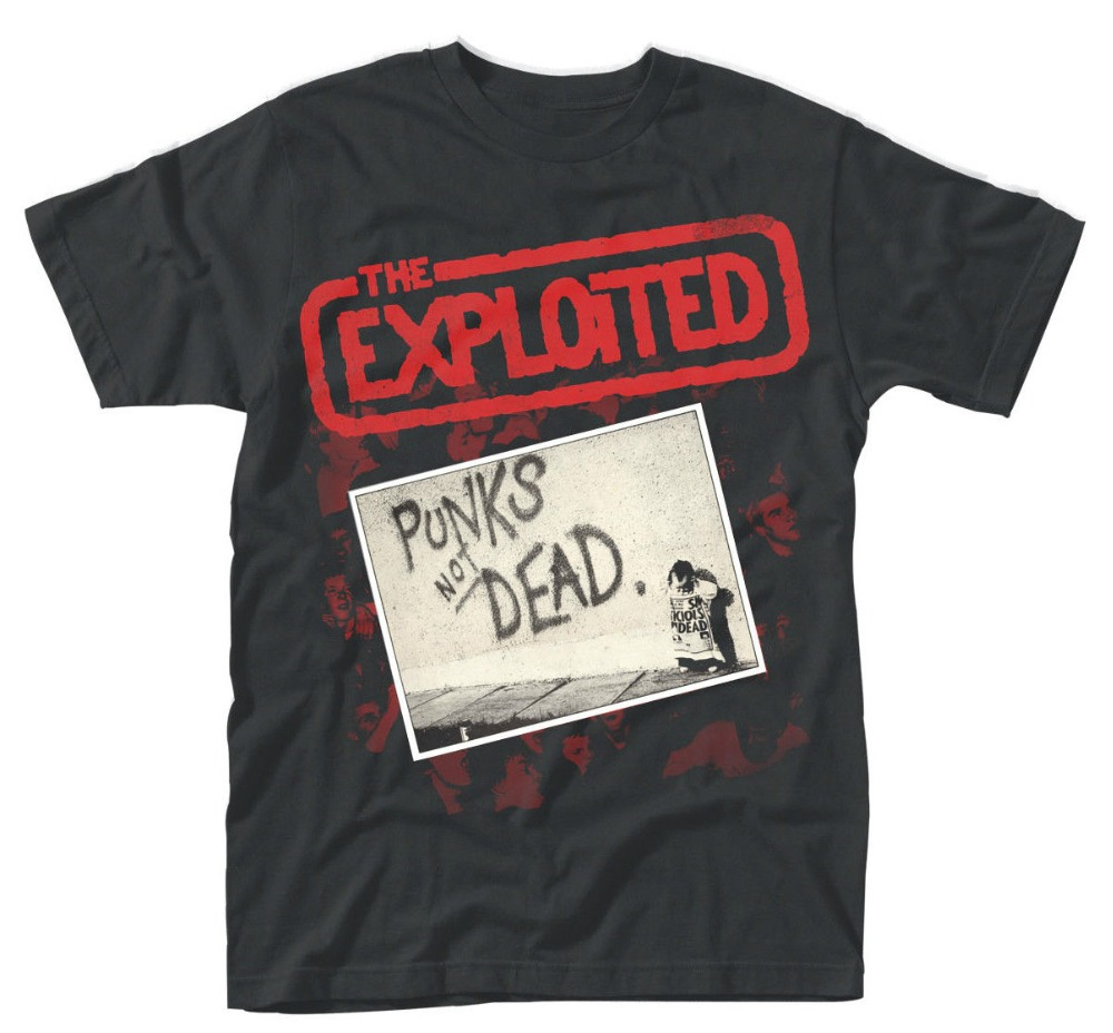 Cheap Sale Cotton T Shirt The Exploited Punk's Not Dead T-Shirt O-Neck Short Sleeve Fashion 2018 Tee Shirts For Men
