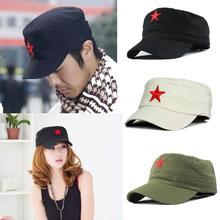 Unisex Clássico Vintage Patrulha Fadiga Exército Tecido Tampão Ajustável Chapéu  Militar Estrela Vermelha SL Adulto Algodão 3f96bdf90a4