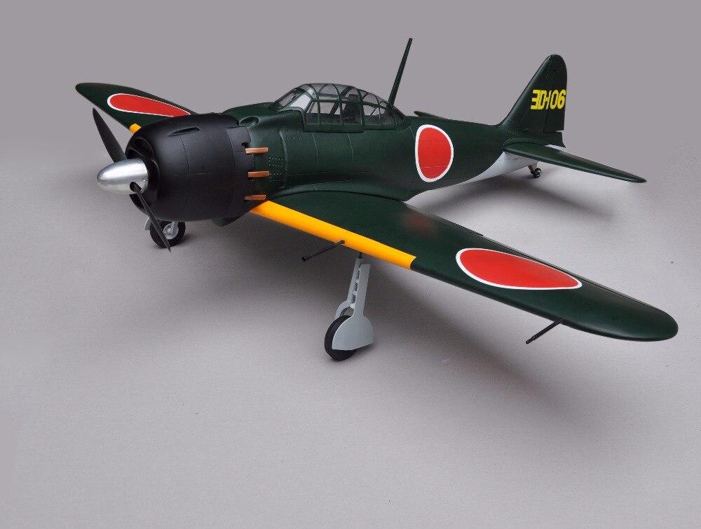 Zero Fighter 46 Nitro Plane 5 Channels ARF RC Balsa Wood Airplane Model