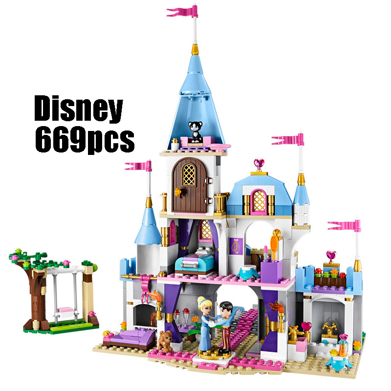 WAZ Compatible Legoe 41055 Girl Friends Kids LELE 79279 blocks Cinderellas Romantic Castle building blocks toys for children waz compatible legoe 41062 girl friends kids lepin 25005 blocks elsa s sparkling ice castle building blocks toys for children