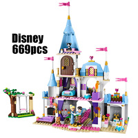 WAZ Compatible Legoe 41055 Girl Friends Kids LELE 79279 Blocks Cinderellas Romantic Castle Building Blocks Toys