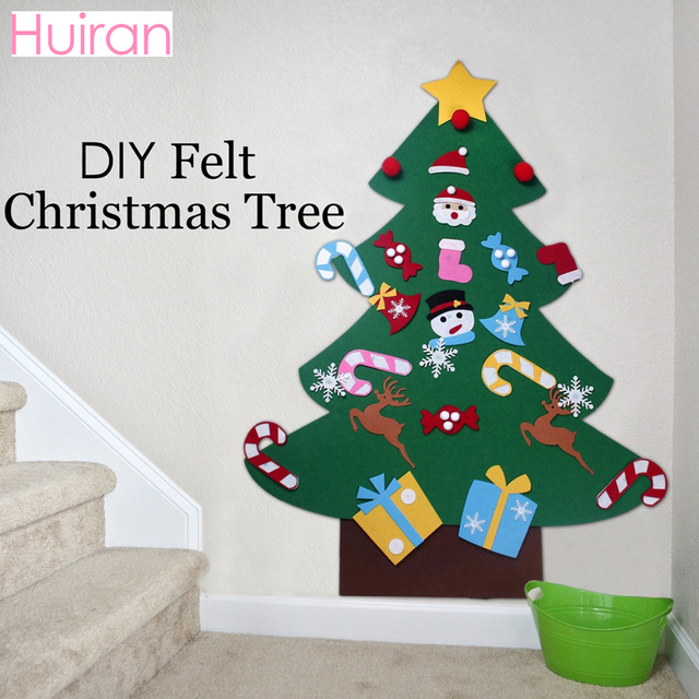 HUIRAN Felt Merry Christmas Tree Decor Christmas Ornaments Christmas Decor  For Home Chrismas Cristmas Decor Noel Happy New Year - HUIRAN Felt Merry Christmas Tree Decor Christmas Ornaments Christmas