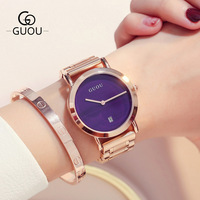 Fashion High Quality Brand Simple Style Quartz Luxury Gold Steel Dress Watches Lasies Casual Clocks Relogio