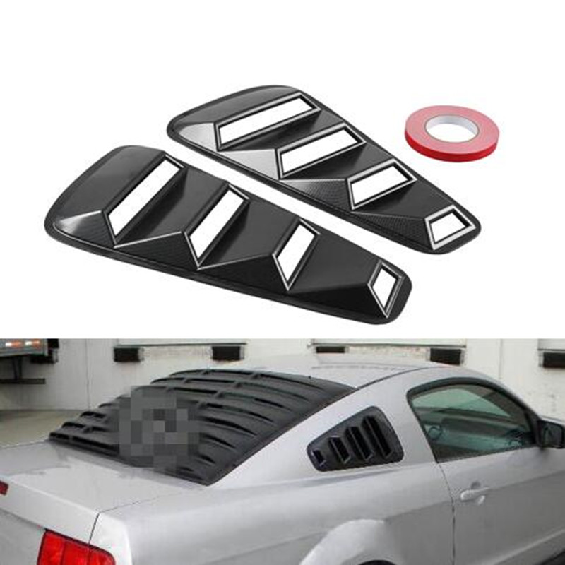 Car Styling JDM Car Sticker 1/4 Quarter Side Window Louvers Scoop Cover Vent for Ford <font><b>Mustang</b></font> 2005-2014 Car Acessories image