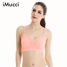 iMucci New Fashion Women Fitness Stretch Workout Tank Top Bras Top Quality Padded Bra