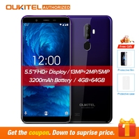Oukitel U25 pro 5.5 Inch FHD Display Android 8.1 Mobile Phone Octa Core Cell Phone 4G RAM 64G ROM 13MP+2MP 3400mAh 4G Smartphone
